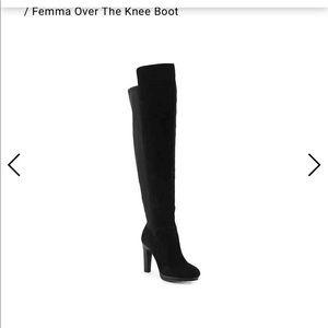 diba Femma Over the Knee Black Boots